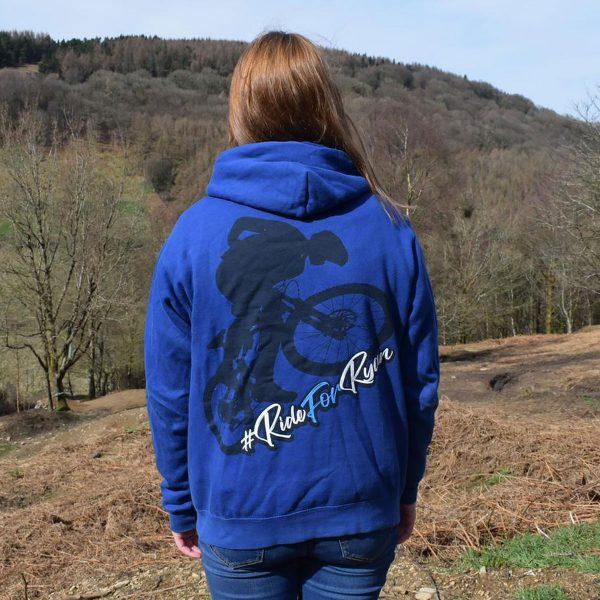 Tirpentyws Trails Ladies Blue Hoodie