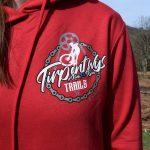 Tirpentyws Trails Ladies Red Hoodie