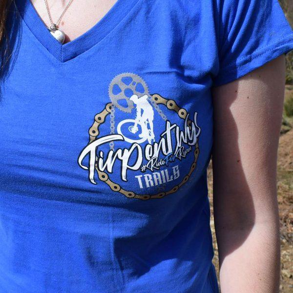 Tirpentyws Trails Ladies Blue T Shirt