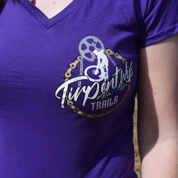 Tirpentyws Trails Ladies Purple T Shirt