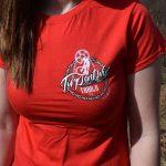Tirpentyws Trails Ladies Red T Shirt
